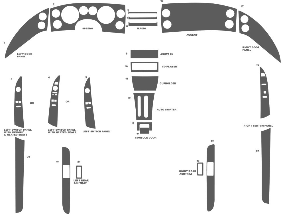 Buick Riviera 1995 Dash Kit Schematic