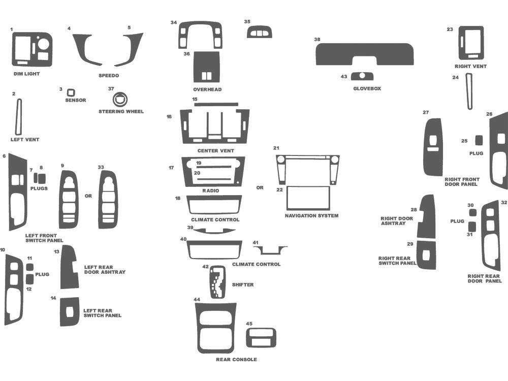 2011 Cadillac Dts Dash Kits