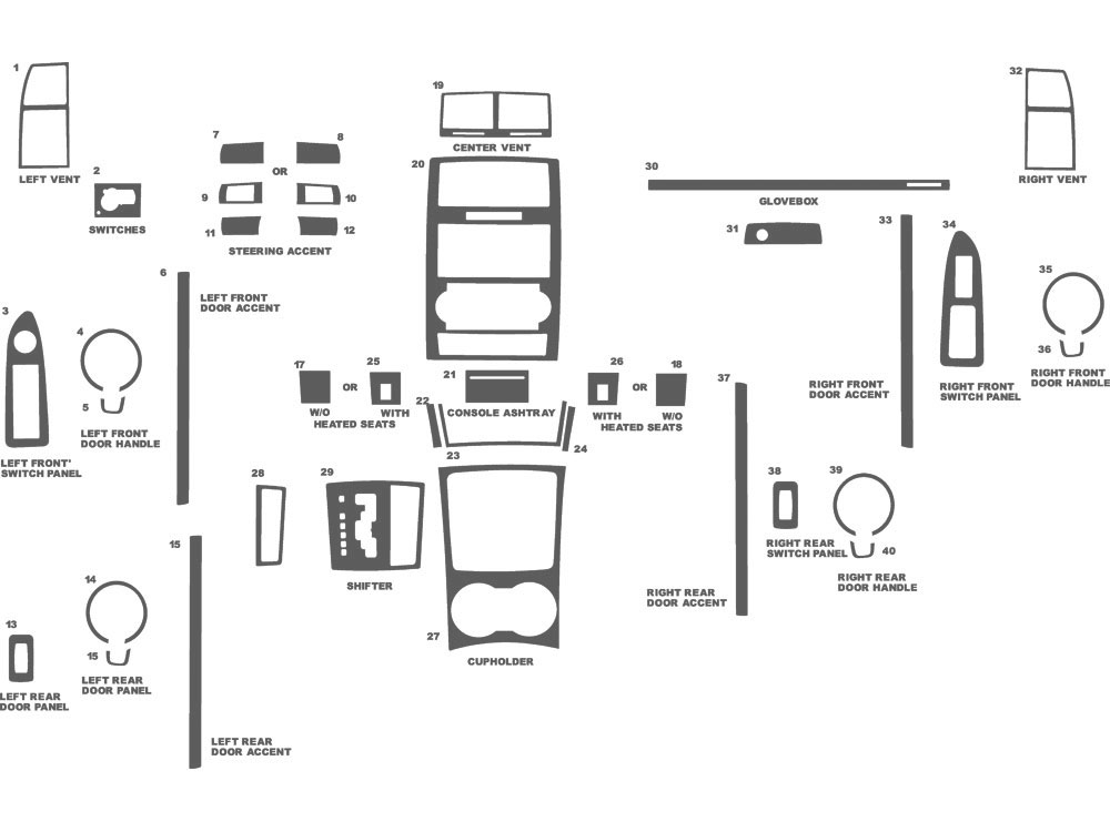 Dodge Charger 2008-2010 Dash Kit Schematic