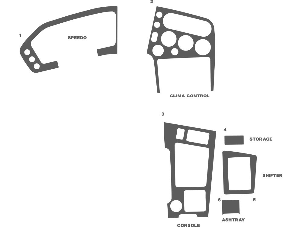 Mitsubishi Eclipse 1990-1994 Dash Kit Schematic