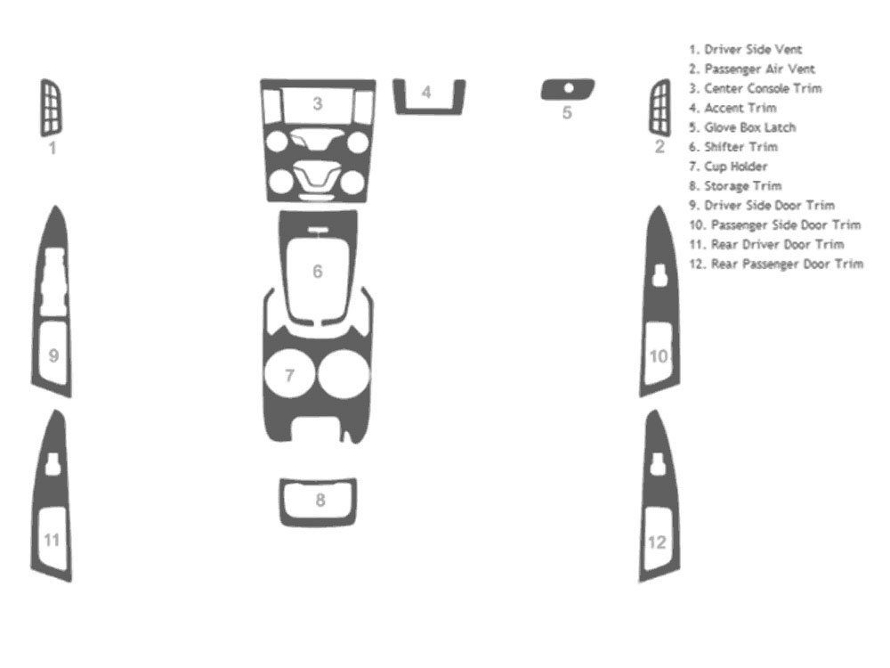 Ford Fusion 2013-2015 Dash Kit Schematic