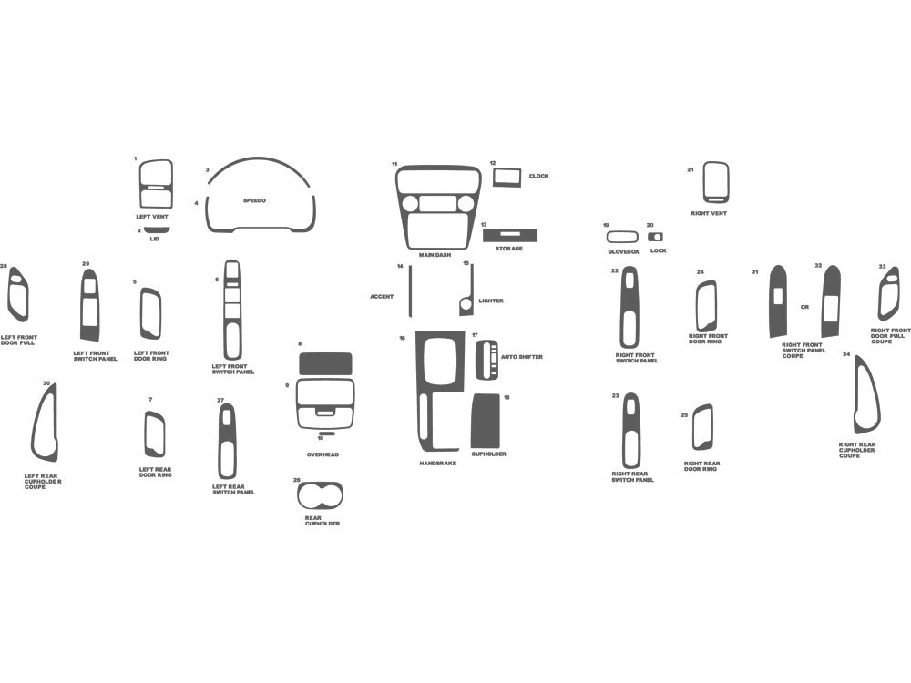 Honda Accord 1998-2000 Dash Kit Schematic