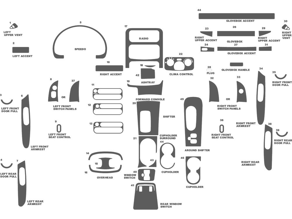 Jeep Liberty 2002-2007 Dash Kit Schematic