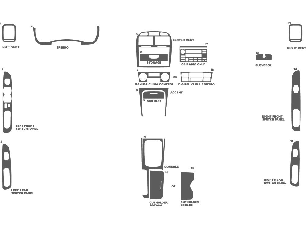 Kia Optima 2003-2006 Dash Kit Schematic
