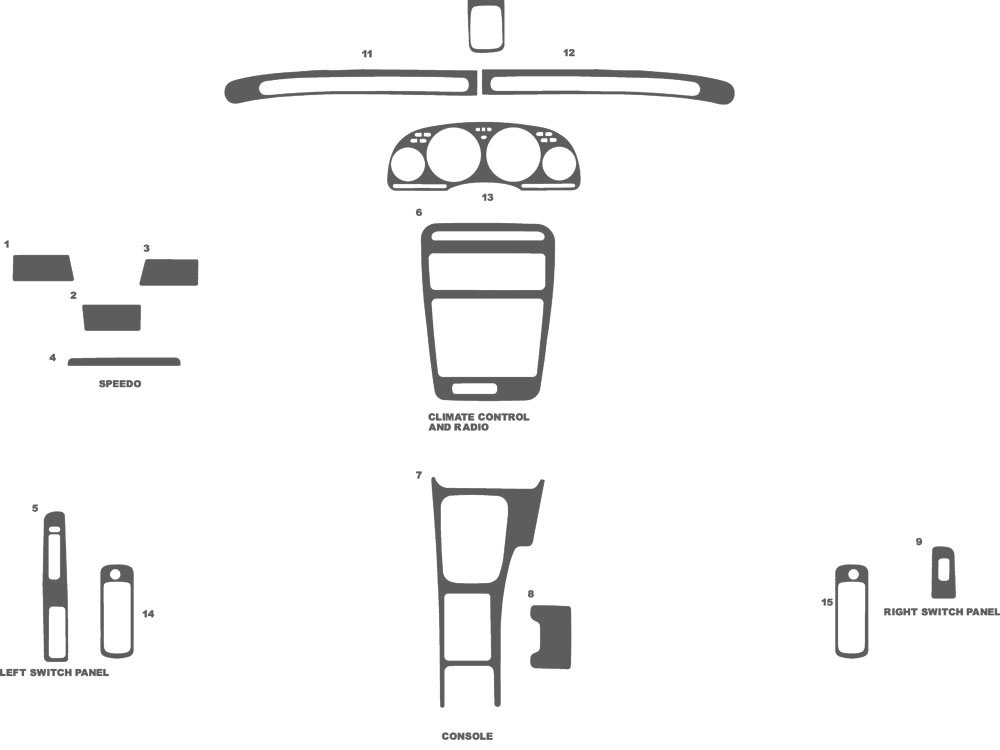 Nissan 300ZX 1990-1996 Dash Kit Schematic