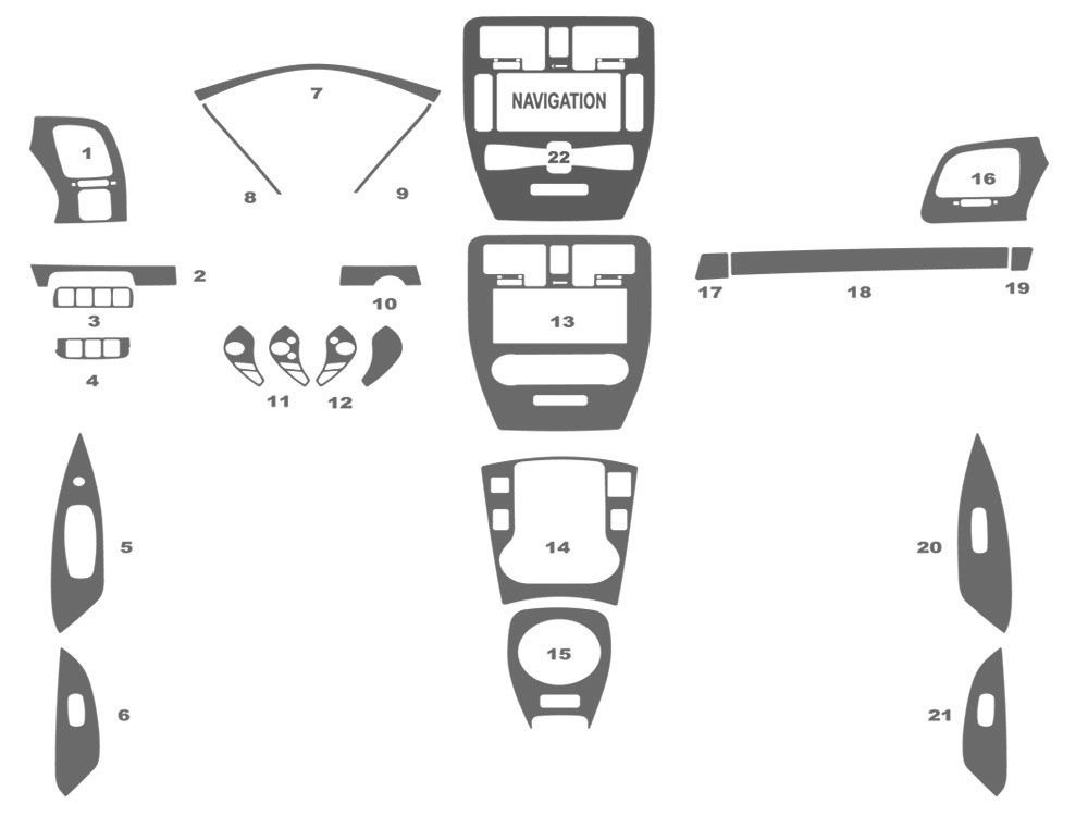 Nissan Leaf 2013-2016 Dash Kit Schematic
