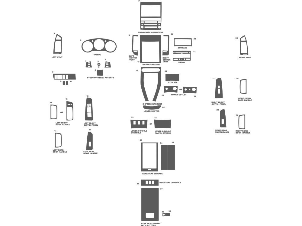 Nissan Maxima 2007-2008 Dash Kit Schematic