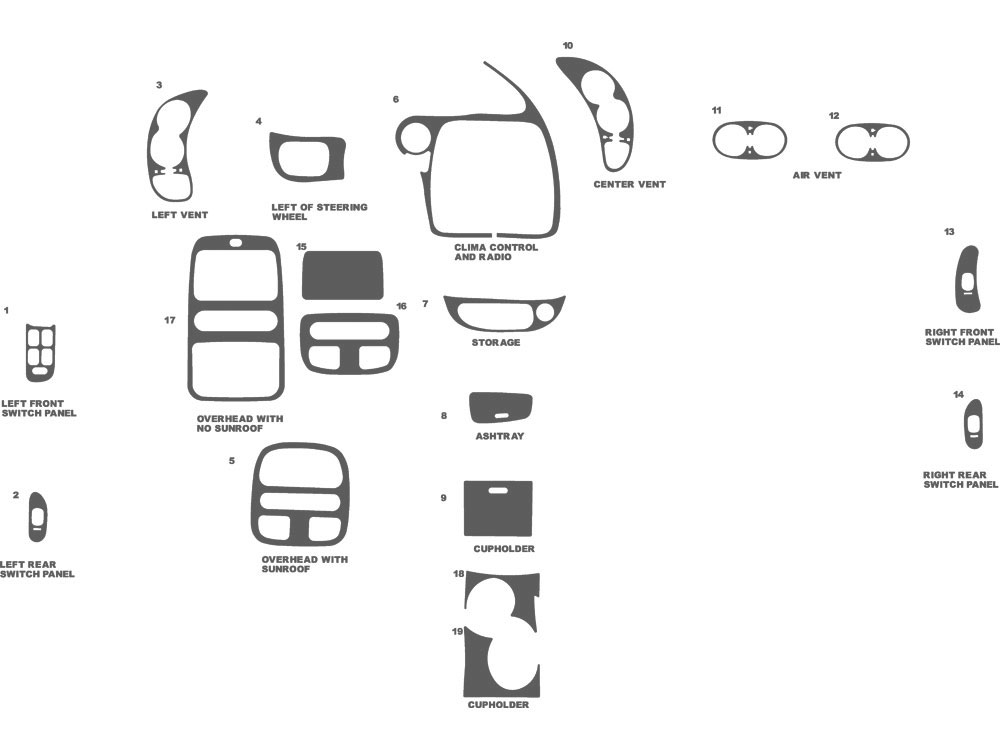 Pontiac Bonneville 2000-2005 Dash Kit Schematic