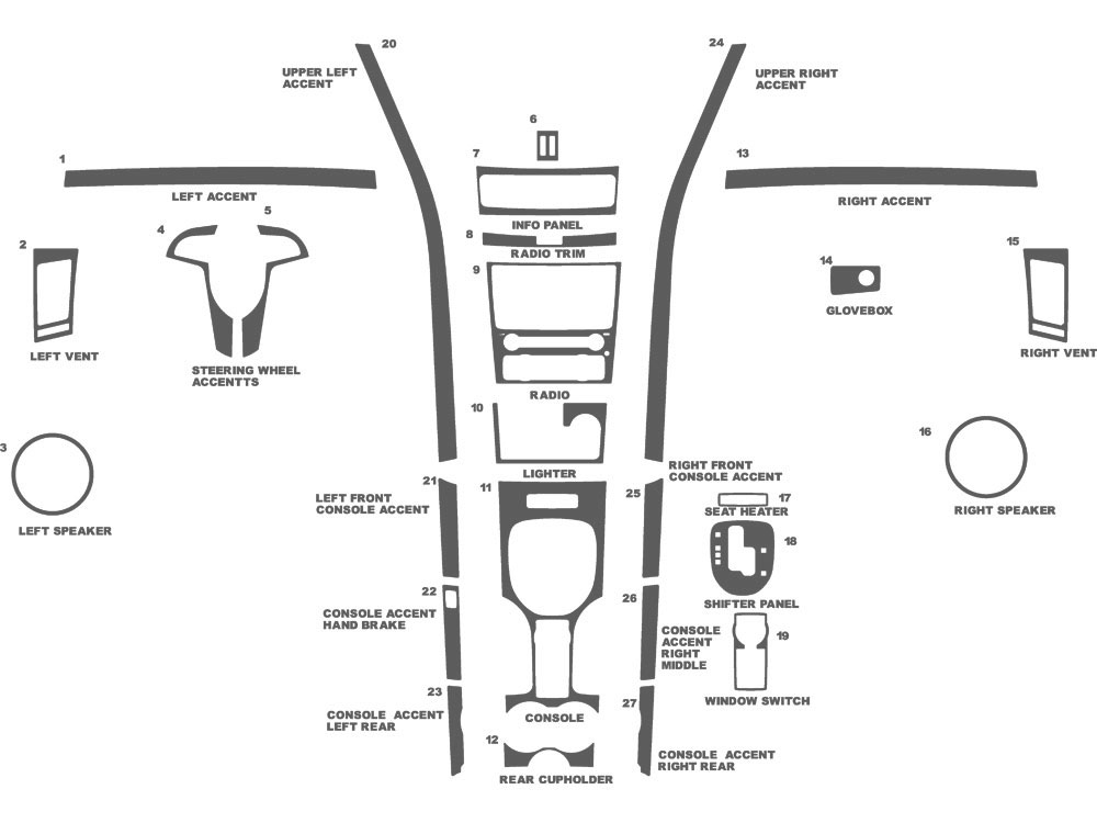 Pontiac G8 2008-2009 Dash Kit Schematic
