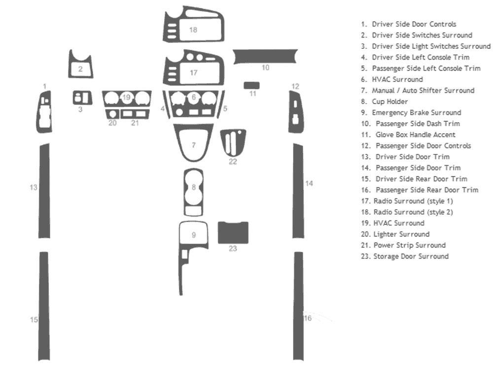 2003 pontiac vibe dash kits