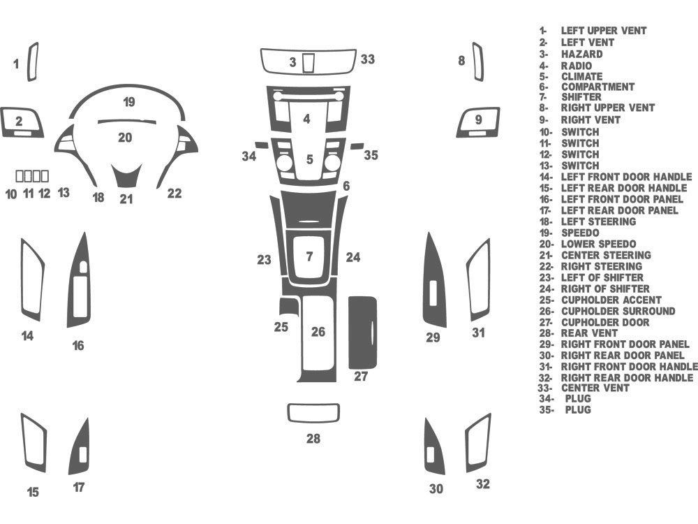 Suzuki Kizashi 2010-2013 Dash Kit Schematic