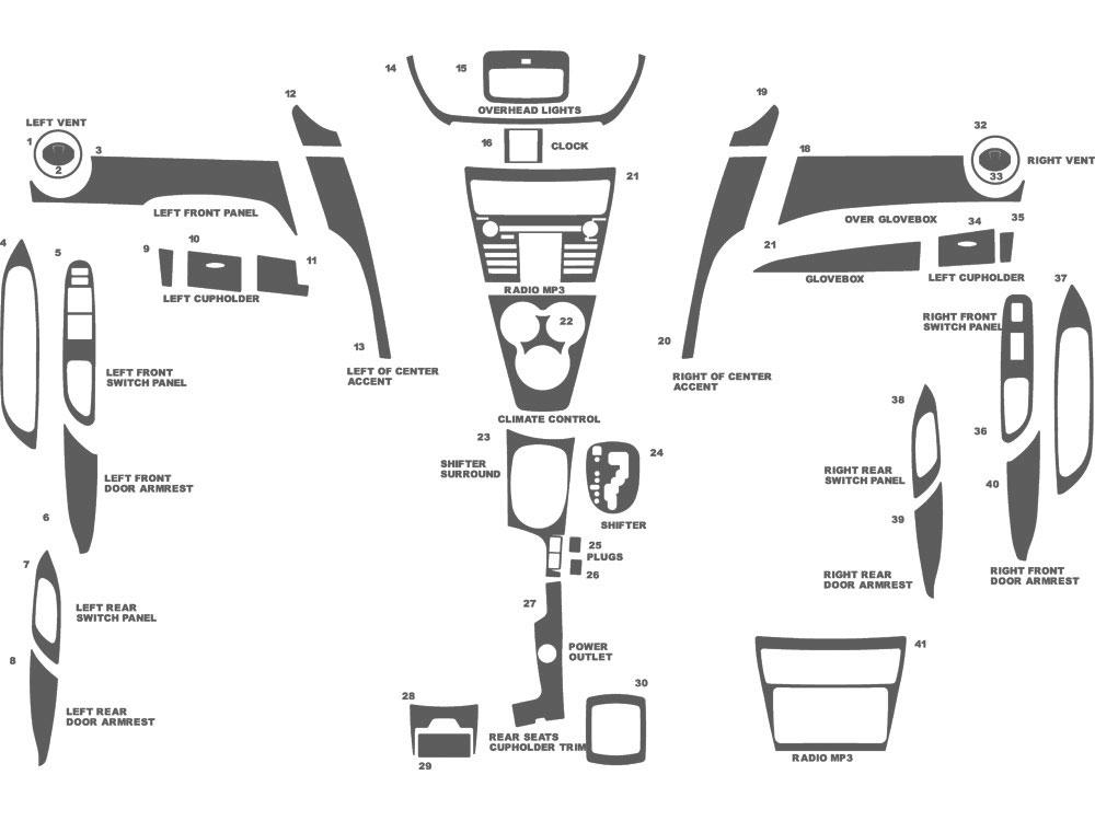 toyota yaris trim parts diagram  toyota  auto wiring diagram