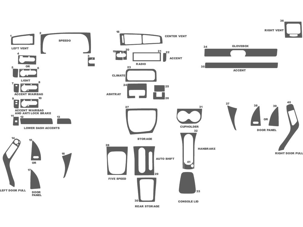 Volkswagen Jetta 1994-1999 Dash Kit Schematic