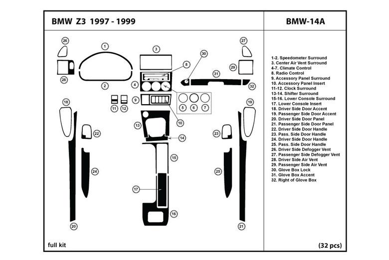dl auto bmw z3 1997 1999 dash kits. Black Bedroom Furniture Sets. Home Design Ideas