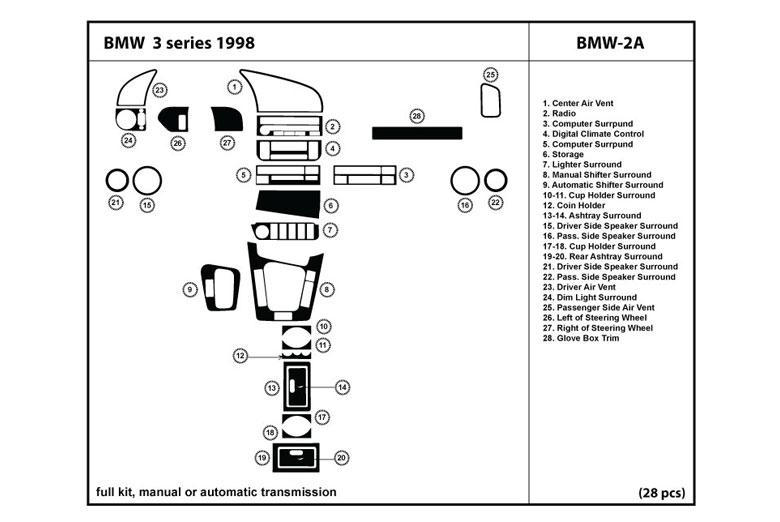 1998 bmw 3 series dash kits custom 1998 bmw 3 series. Black Bedroom Furniture Sets. Home Design Ideas