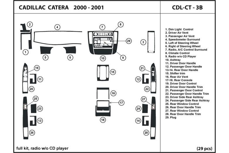 dl auto cadillac catera 2000 2001 dash kits. Black Bedroom Furniture Sets. Home Design Ideas