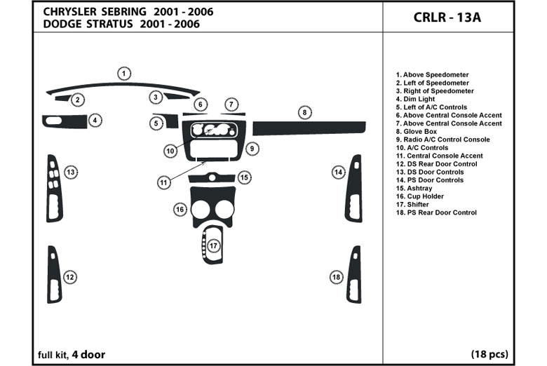 2001 dodge dash diagram