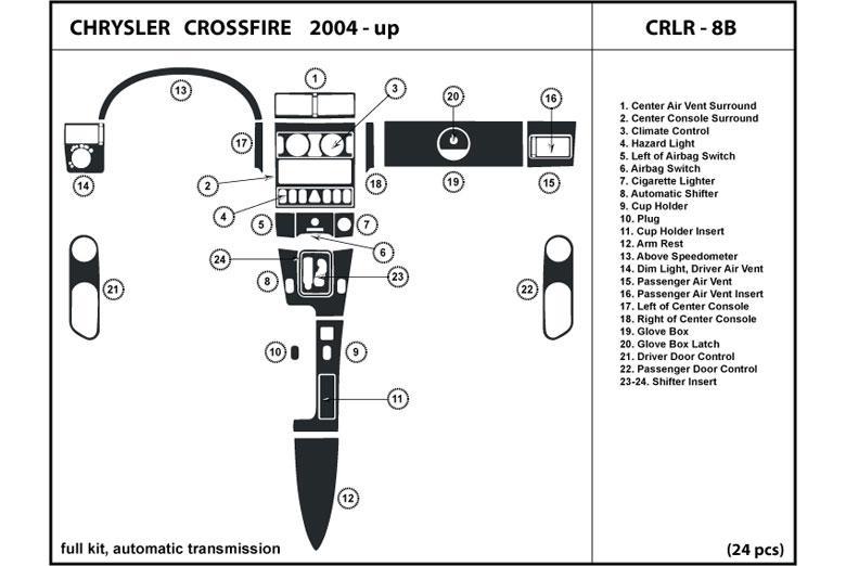 dl auto chrysler crossfire 2004 2008 dash kits. Black Bedroom Furniture Sets. Home Design Ideas