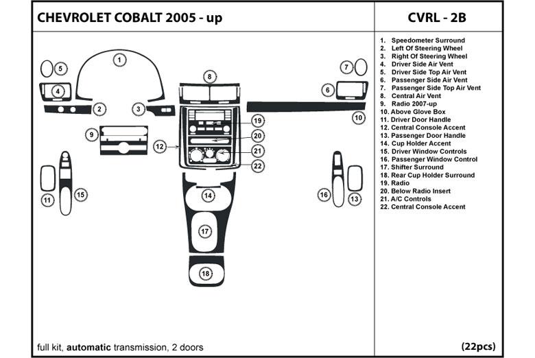 dl auto chevrolet cobalt 2005 2010 dash kits. Black Bedroom Furniture Sets. Home Design Ideas