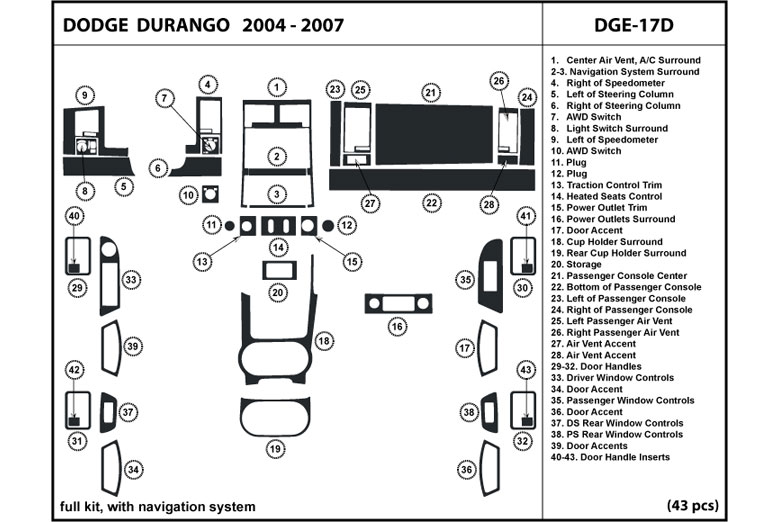 dl auto u00ae dodge durango 2004