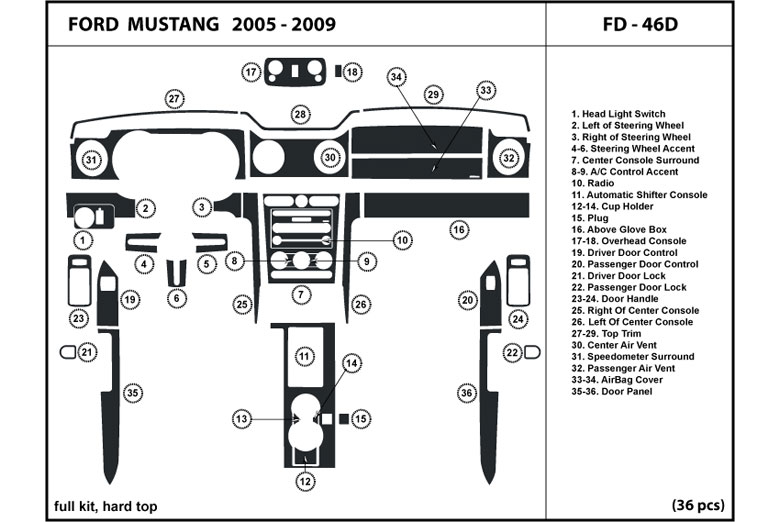 Dl Auto U00ae Ford Mustang 2005