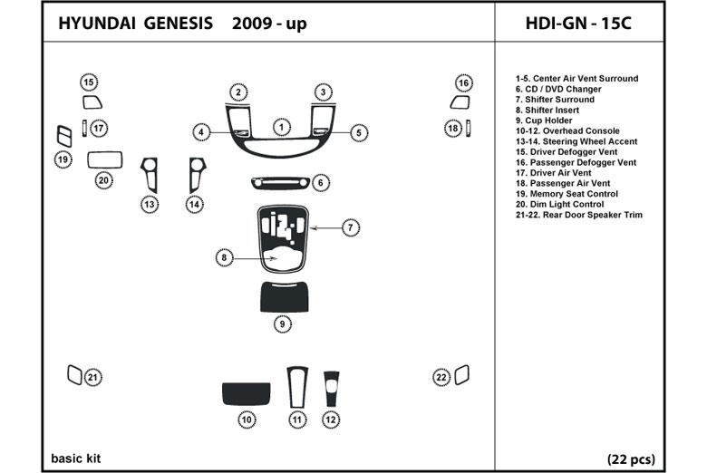 2012 Hyundai Genesis Dash Kits | Custom 2012 Hyundai ...