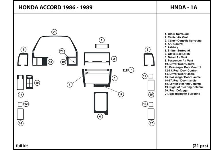 1987 honda accord dash kits