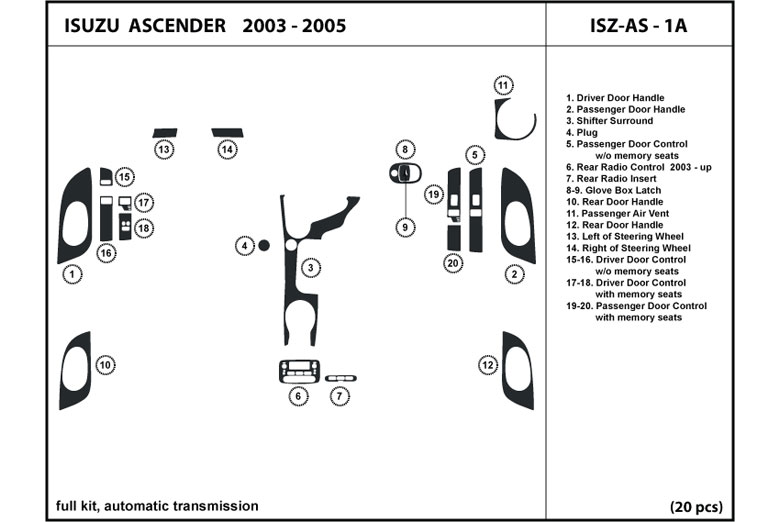 00 Acura Rl Engine Diagram Rear as well 2005 Isuzu Ascender Engine Diagram moreover 2006 Ford Mustang Fuse Box Diagram also 2004 Isuzu Ascender Fuse Box Diagram together with  on 262800701897