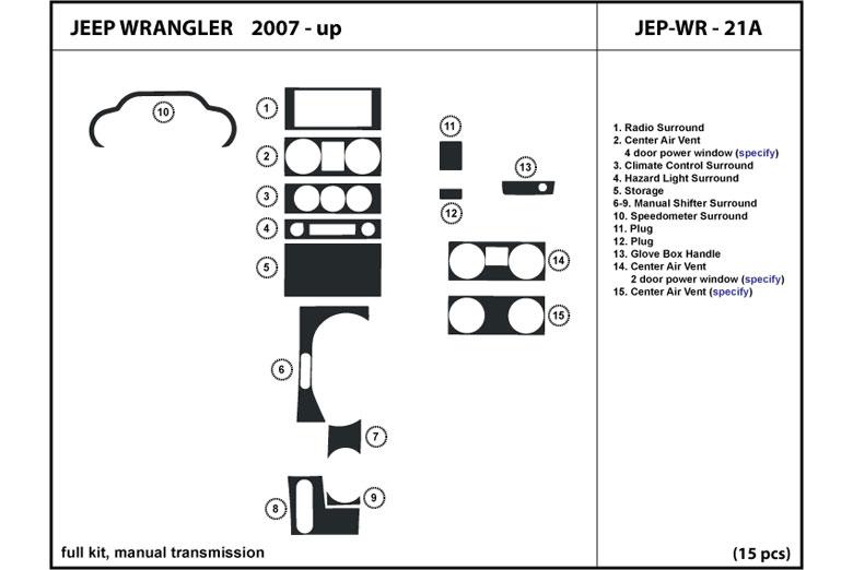 2008 Jeep Wrangler Dash Kits
