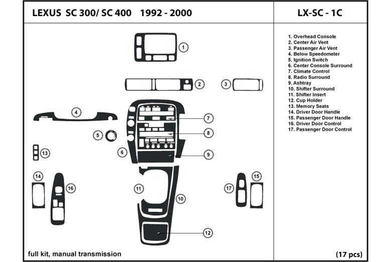service manual  1997 lexus sc dash removal diagram