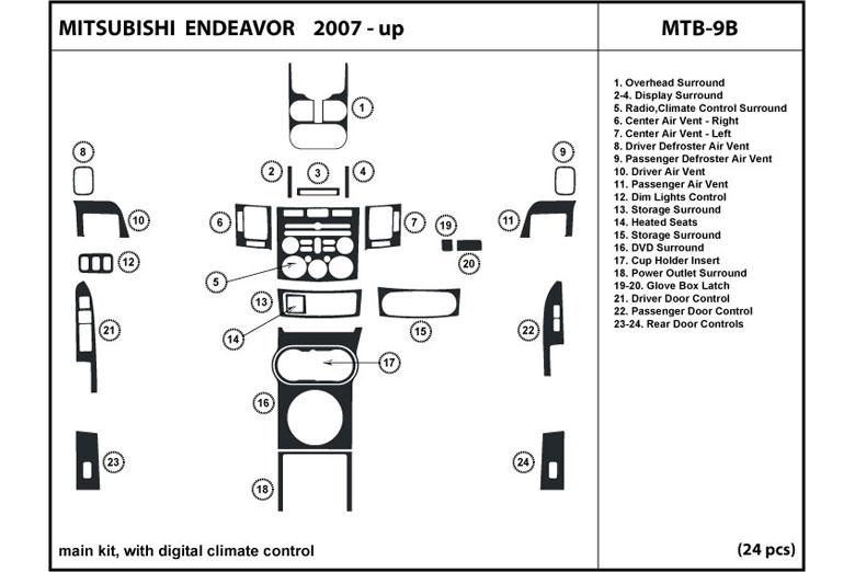 Dl Auto 174 Mitsubishi Endeavor 2007 2008 2010 2011 Dash Kits