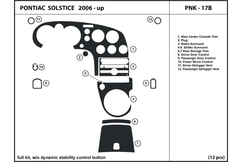 dl auto pontiac solstice 2006 2009 dash kits. Black Bedroom Furniture Sets. Home Design Ideas