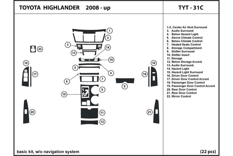 Dl Auto U00ae Toyota Highlander 2008