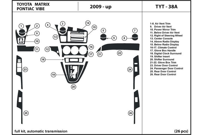 2010 pontiac vibe dash kits