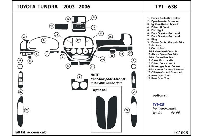 2004 Toyota Tundra Dash Kits   Custom 2004 Toyota Tundra ...
