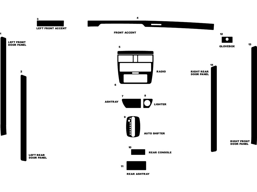 Audi A4 1996-1999 Dash Kit Diagram