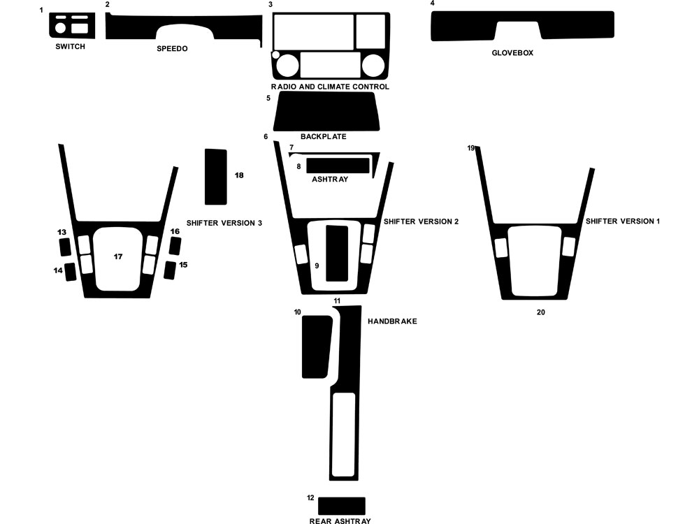 BMW 3-Series 1984-1991 Dash Kit Diagram
