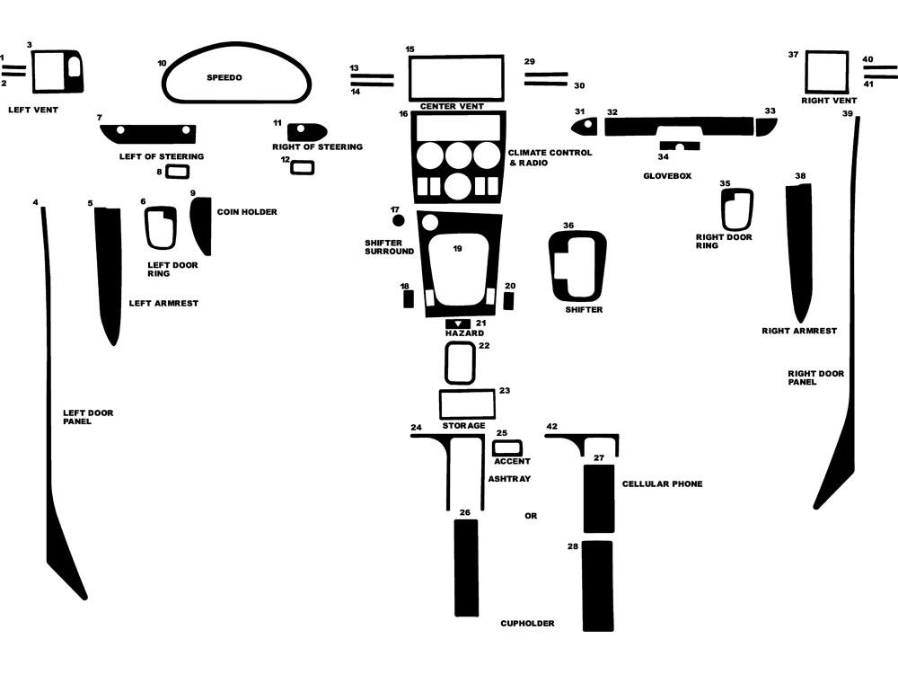 2001 bmw z3 dash kits