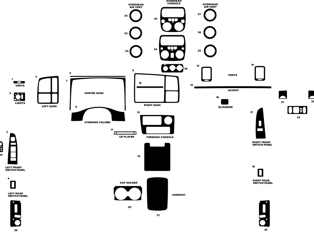 2002 cadillac escalade interior diagram html