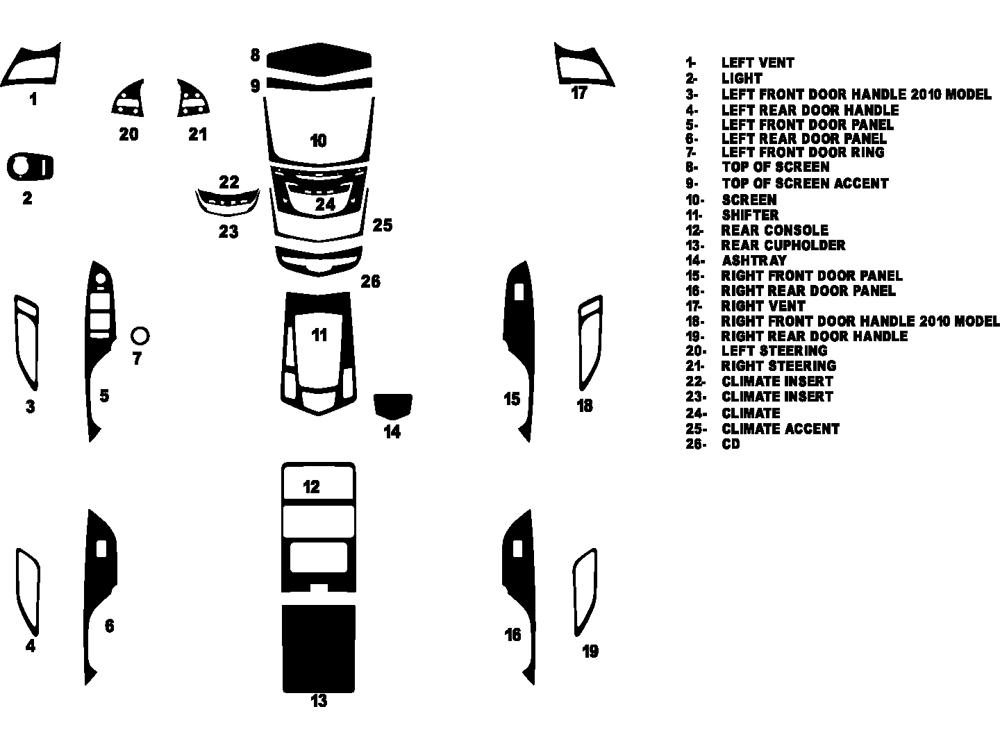 2014 Cadillac Srx Dash Kits