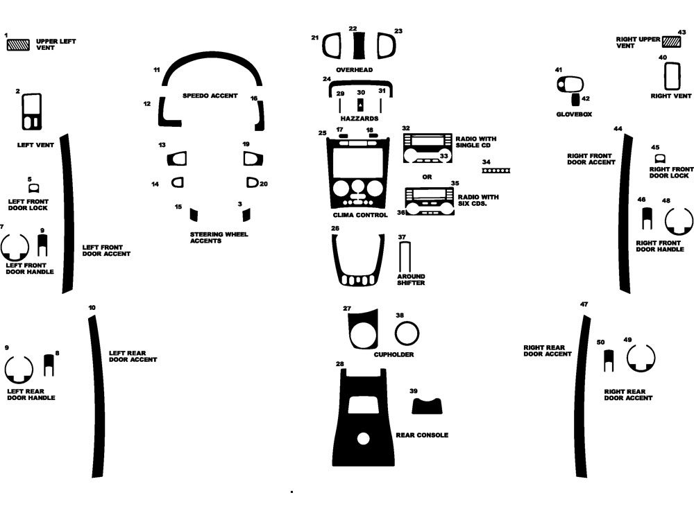 Pontiac Torrent 2006 Dash Kit Diagram