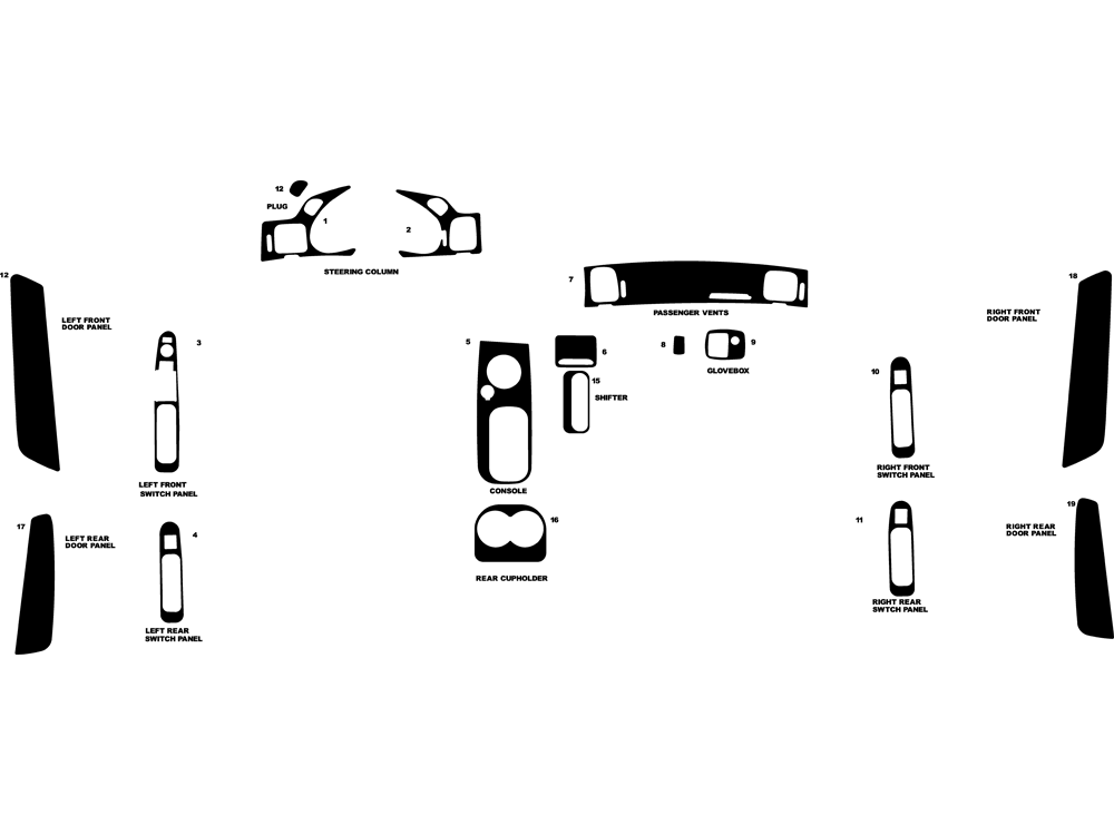Chevrolet Impala 2000-2005 Dash Kit Diagram