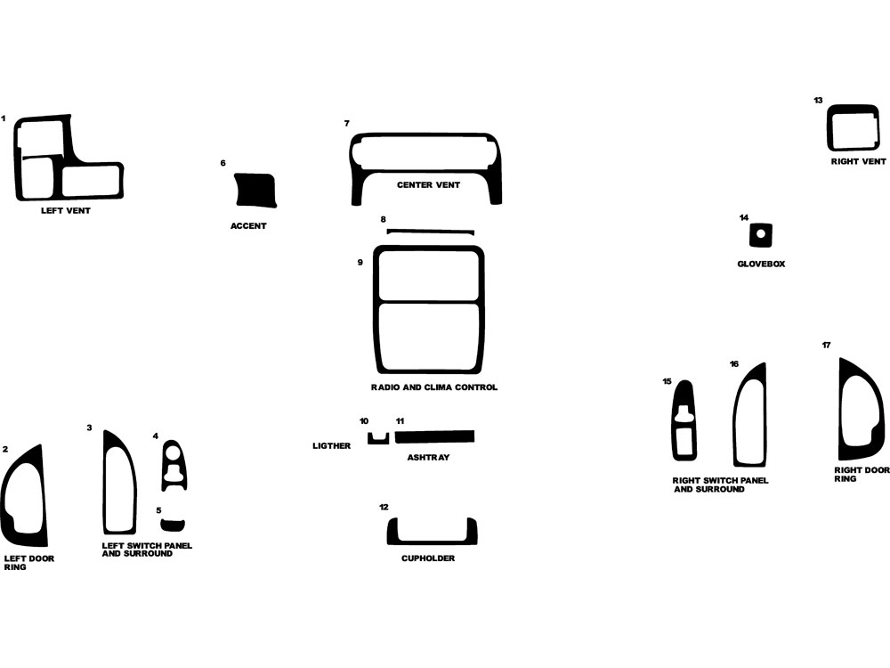 Chevrolet Venture 2000-2004 Dash Kit Diagram