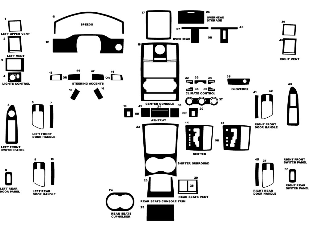 Chrysler 300 2008-2010 Dash Kit Diagram