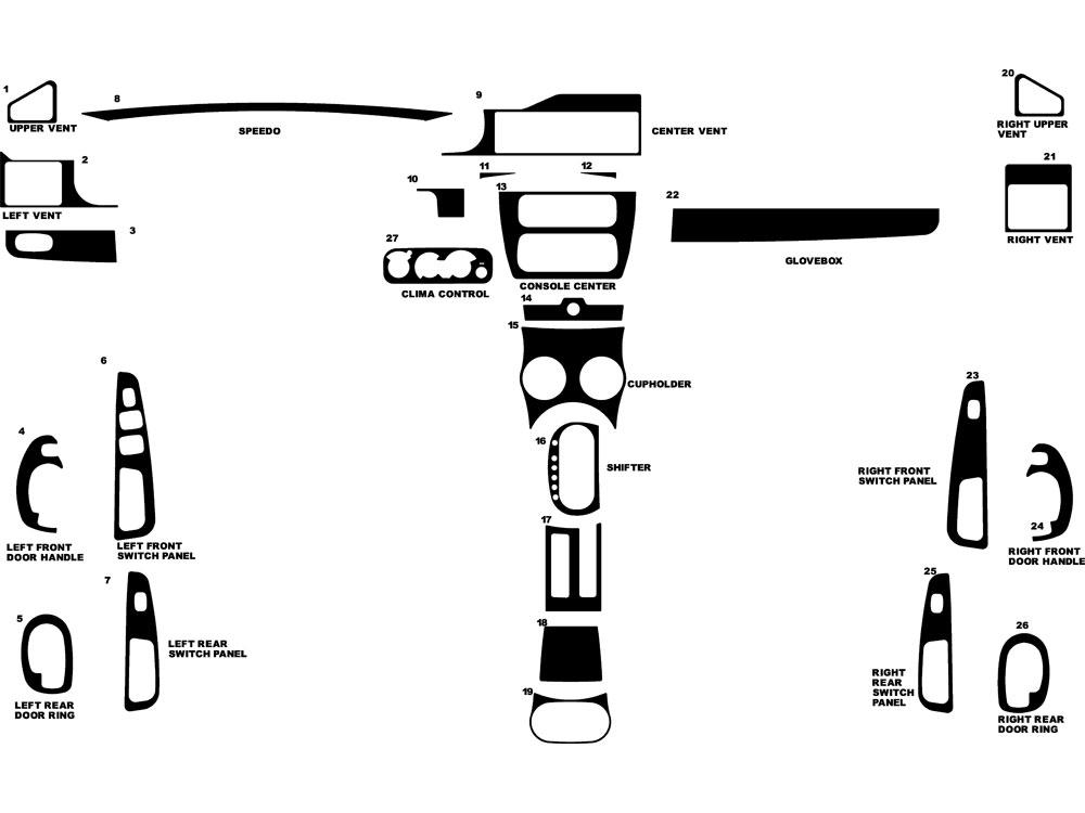 2005 dodge stratus dash kits