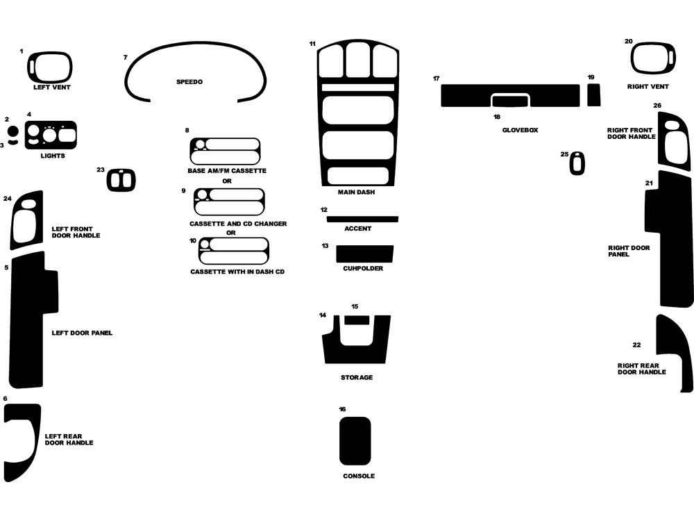 Chrysler Town and Country 2004-2004 Dash Kit Diagram