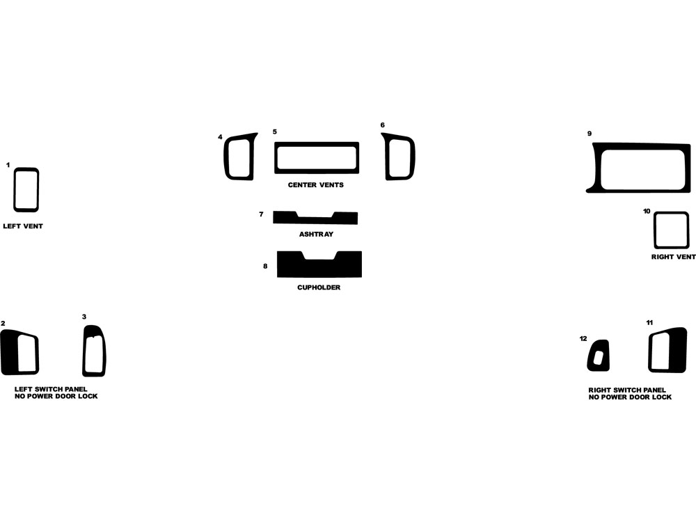 Dodge Caravan 1994-1995 Dash Kit Diagram