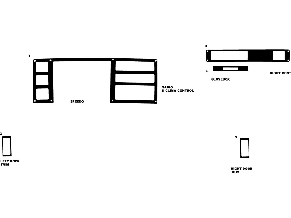 Dodge Dakota 1987-1996 Dash Kit Diagram