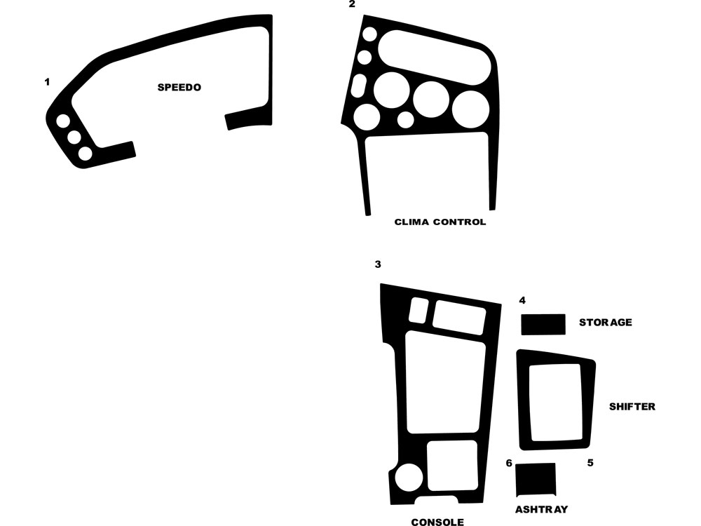 Mitsubishi Eclipse 1990-1994 Dash Kit Diagram