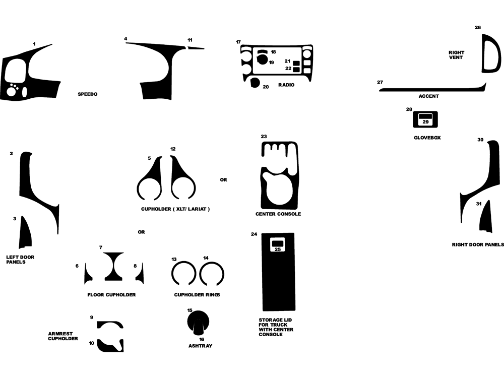 ford ranger interior trim diagrams html